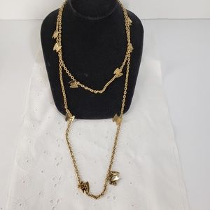 Vintage Butterfly Chain Necklace